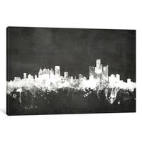 iCanvas 'Blackboard Skyline Series: Detroit, Michigan, USA' by Michael Tompsett Canvas Print