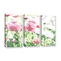 Scott Medwetz's 'Chrysanthemums' 3 Piece Gallery Wrapped Canvas Set