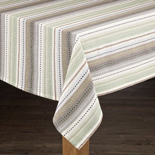 Phoenix Striped Textured Dobby Cotton Imported Tablecloth (More options available)