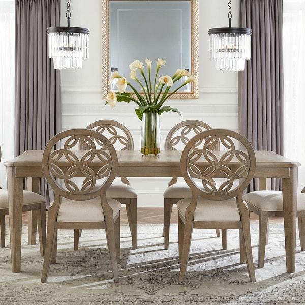 Hilale Furniture Savona Vintage Grey Finish Wood Rectangular Dining Table