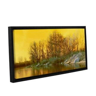 Scott Medwetz's 'Deep River Lake' Gallery Wrapped Floater-framed Canvas