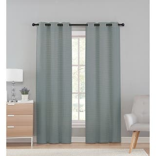 VCNY Home Marcus Pleated Solid Semi-Sheer Curtain Panel Pair|https://ak1.ostkcdn.com/images/products/15437799/P21887491.jpg?impolicy=medium