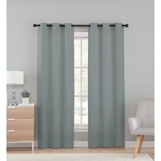 VCNY Home Marcus Pleated Solid Semi-Sheer Curtain Panel Pair