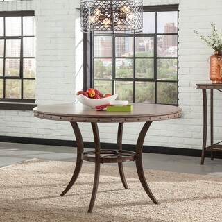 Hillsdales Furniture Emmons Washed Grey Round Dining Table