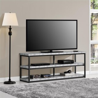 Ameriwood Home Ashlar 65-inch Concrete Grey TV Stand