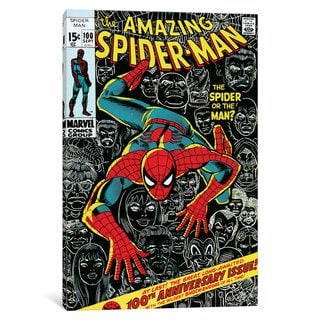 iCanvas Marvel Comic Book Spider-Man Issue Cover #100 by Marvel Comics Canvas Print