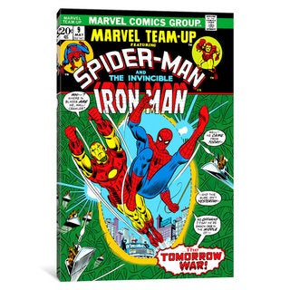 iCanvas Marvel Comic Book Spider-Man Marvel Team Up Issue Cover #9 by Marvel Comics Canvas Print