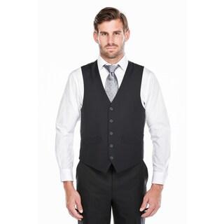 Verno Men's Dark Navy Five Button Classic Fit Vest