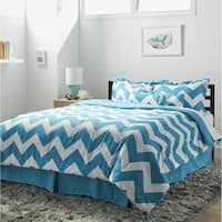 7-piece Beige Chevron Comforter Set