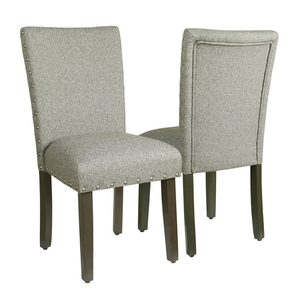 Shop Homepop Classic Parsons Chair With Nailhead Trim Sterling