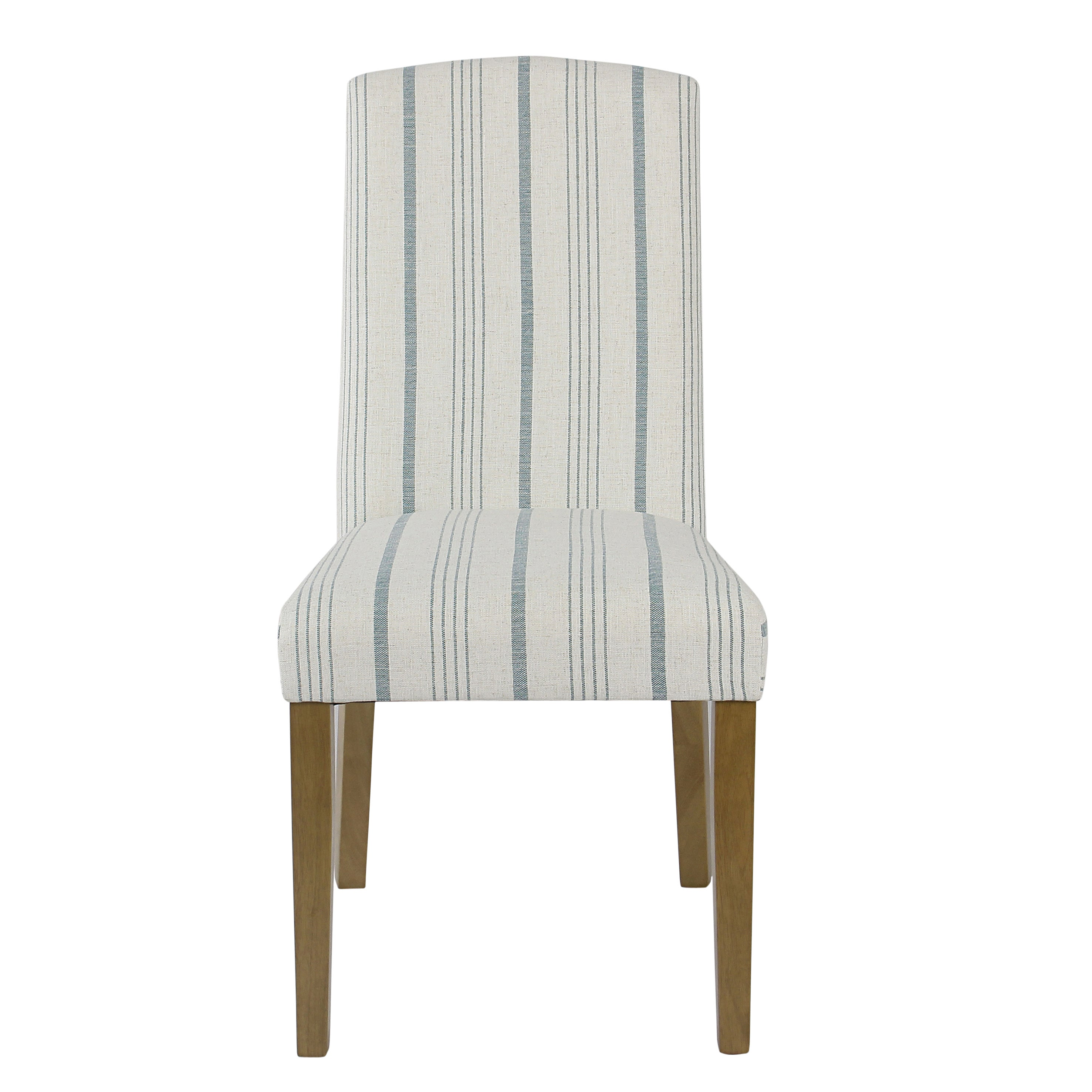 Homepop Classic Parsons Dining Chair Blue Calypso Stripe Set Of 2
