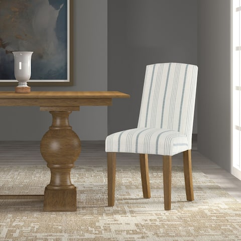 HomePop Classic Parsons Dining Chair - Blue Calypso Stripe (Set of 2)