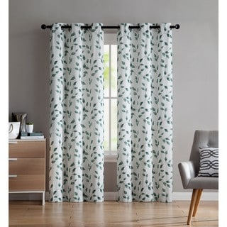 VCNY Home Botanical Printed Curtain Panel Pair