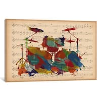 iCanvas 'Multi-Color Drums on Music Sheet #2' by iCanvas 'Canvas Print