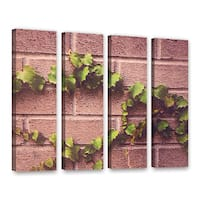 Scott Medwetz's 'Twinning Vine Wall' 4 Piece Gallery Wrapped Canvas Set