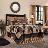 Black Primitive Bedding VHC Dakota Star Quilt Cotton Star Patchwork