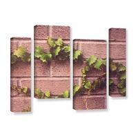 Scott Medwetz's 'Twinning Vine Wall' 4 Piece Gallery Wrapped Canvas Staggered Set