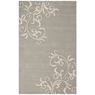 Martha Stewart by Safavieh Avalon Vine Soft Aqua / Blue Wool Area Rug (4' x 6')
