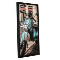 Scott Medwetz's 'Vespa' Gallery Wrapped Floater-framed Canvas