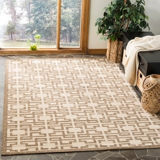 Martha Stewart by Safavieh Beige / Brown Area Rug (4' x 5'7)