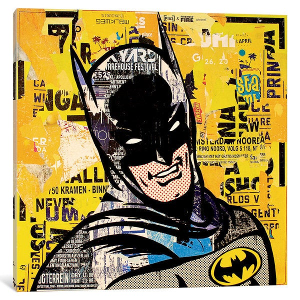 iCanvas 'Batman' by Michiel Folkers Canvas Print