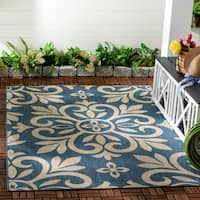 Martha Stewart by Safavieh Bloomfield Azurite / Blue Area Rug - 4' x 5'7""