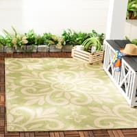 Martha Stewart by Safavieh Bloomfield Beach Grass / Green Area Rug - 4' x 5'7""