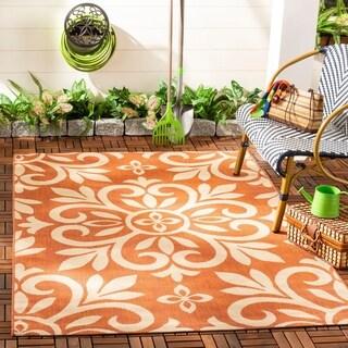 Martha Stewart by Safavieh Bloomfield Cinnamon Stick / Pink Area Rug - 4' x 5'7
