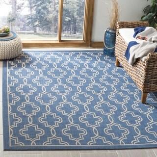 Martha Stewart by Safavieh Blue / Beige Area Rug (2'7 x 5')