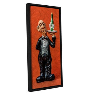 Scott Medwetz's 'Wine Butler' Gallery Wrapped Floater-framed Canvas