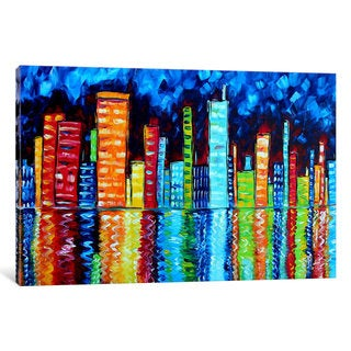 iCanvas 'City Nights II' by Megan Duncanson Canvas Print