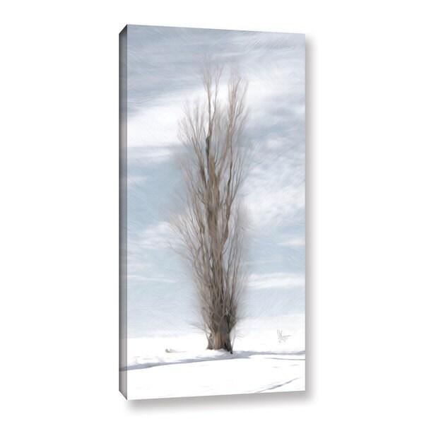 Scott Medwetz's 'Winter Poplar Tree' Gallery Wrapped Canvas