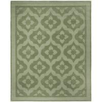 Martha Stewart by Safavieh Casbah Pumpkin / Seed / Green Wool Area Rug - 4' x 6'