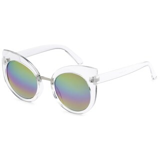 Mechaly MES3904 Womens Clear Frame Mirror Lens Sunglasses