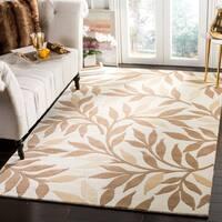 Martha Stewart by Safavieh Charleston Natural Twine / Ivory / Brown Wool Area Rug - 4' x 6'