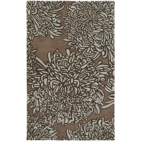 Martha Stewart By Safavieh Chrysanthemum Driftwood / Grey / Brown Wool Area  Rug (4u0027