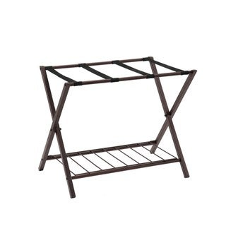 K and B Furniture Co Inc Bronze Metal Luggage Rack