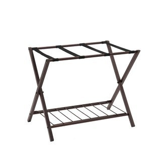 K and B Furniture Co Inc Bronze Metal Luggage Rack