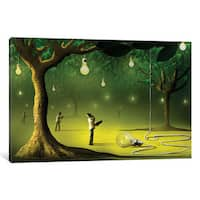 iCanvas 'Lâmpadas na Floresta (Lamps In  The Forest)' by Marcel Caram Canvas Print