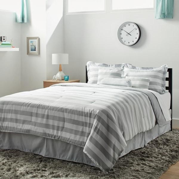 7-piece Horizontal Stripe Comforter Set