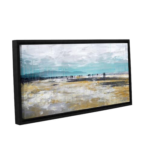 Clara Summer's 'Beach III' Gallery Wrapped Floater-framed Canvas