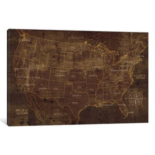 iCanvas United States by Luke Wilson Canvas Print