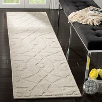 Martha Stewart by Safavieh Fretwork Cavern / Brown Wool Area Rug - 3' x 5'