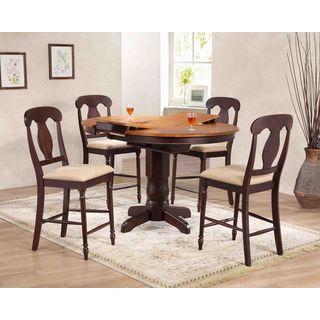 Iconic Furniture Company Napoleon Whiskey and Mocha Rubberwood Dining Set