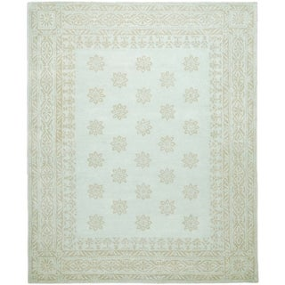 Martha Stewart by Safavieh Gracious Garden Winter's Day / Blue Wool Area Rug (4' x 6')