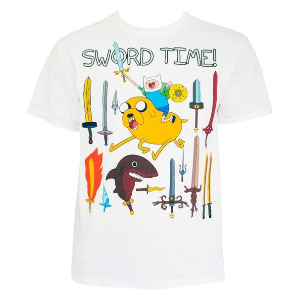 Shop Adventure Time Sword Time Tee Shirt Ships To Canada