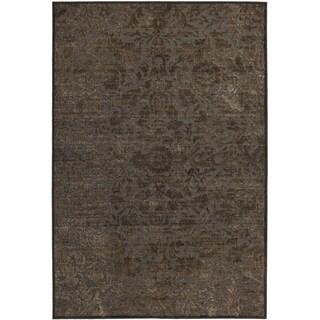 Martha Stewart by Safavieh Heritage Bloom Zinc / Brown Viscose / Chenille Area Rug (4' x 5'7)