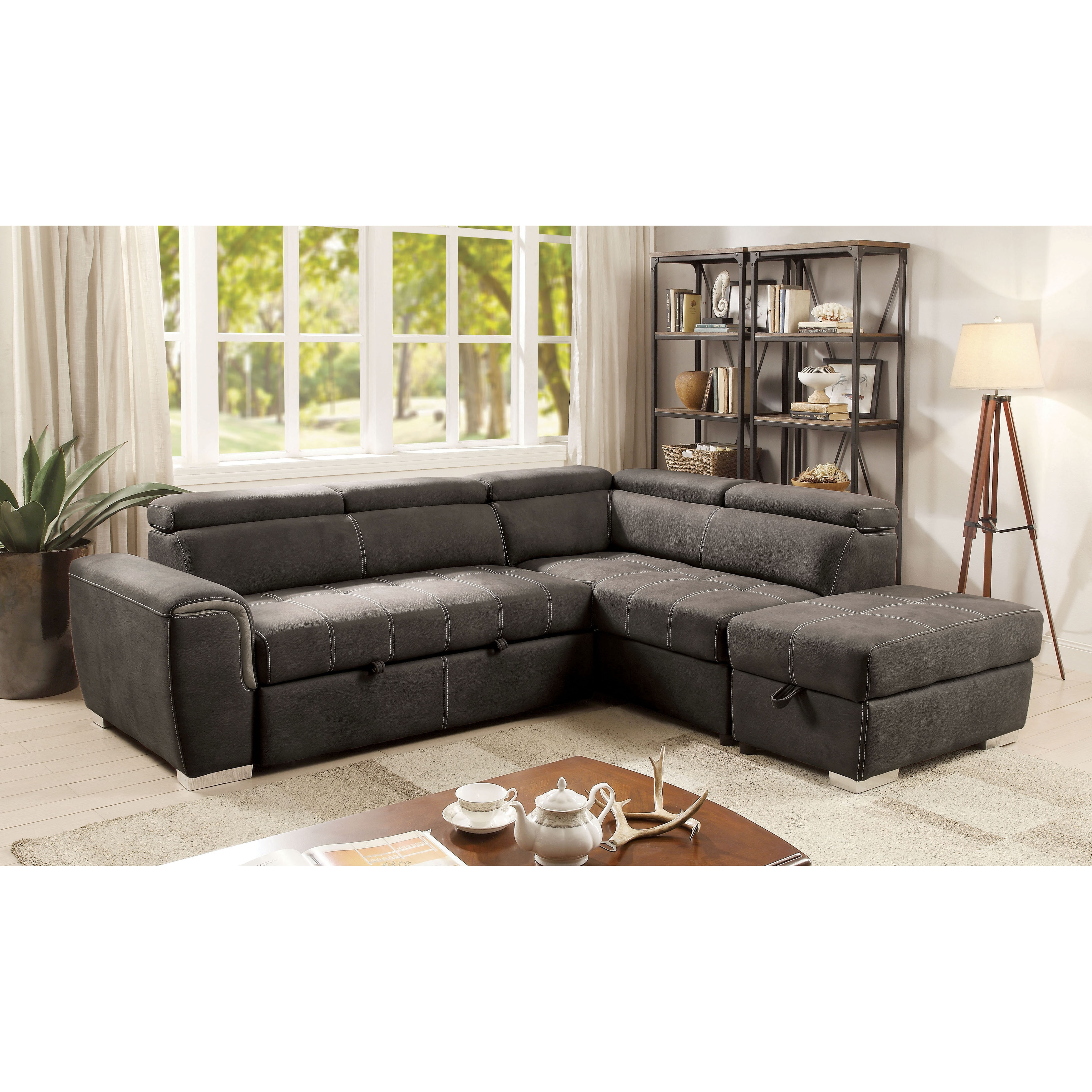 Furniture of America Henley Contemporary Upholstered Stor...