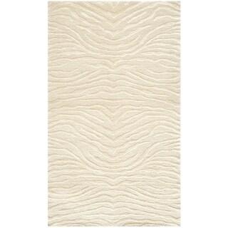 Martha Stewart by Safavieh Journey Cloud / Beige Silk / Wool Area Rug (2'6 x 4'3)