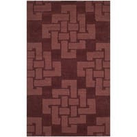 Martha Stewart by Safavieh Knot Ceiling Wax / Red Wool Area Rug - 3' x 5'